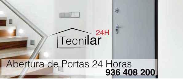 Tecnilar - Abertura de portas 24 horas - Abertura de porta mudança de fechaduras